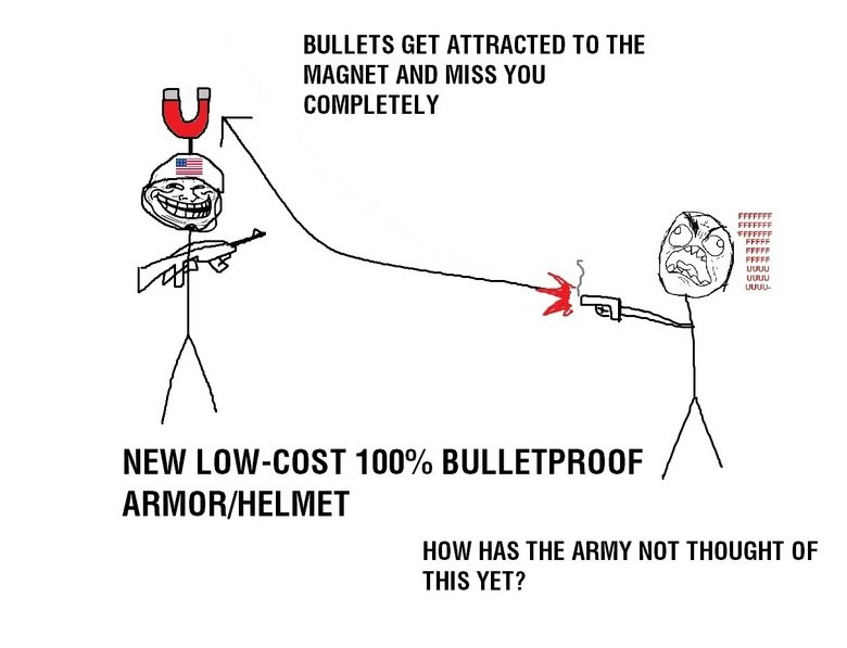 Funny Picture-New lowcost 100% Bulletproof armor (trollface,fffuuuuu)