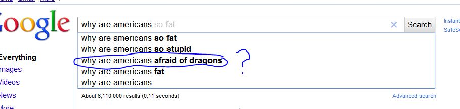 Google Suggest – Why are Amreicans …..