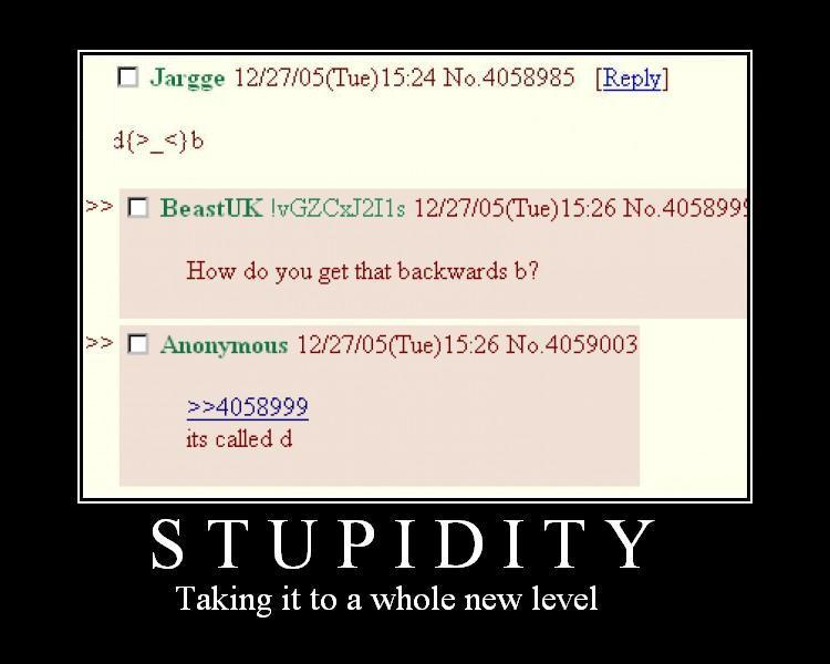 Stupidity-Taking it to a whole new level