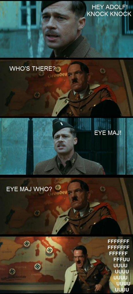 Comic Strip - Hey Adolf! Knock knock