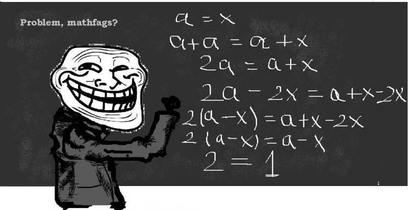 Troll Science - Problem mathfags?