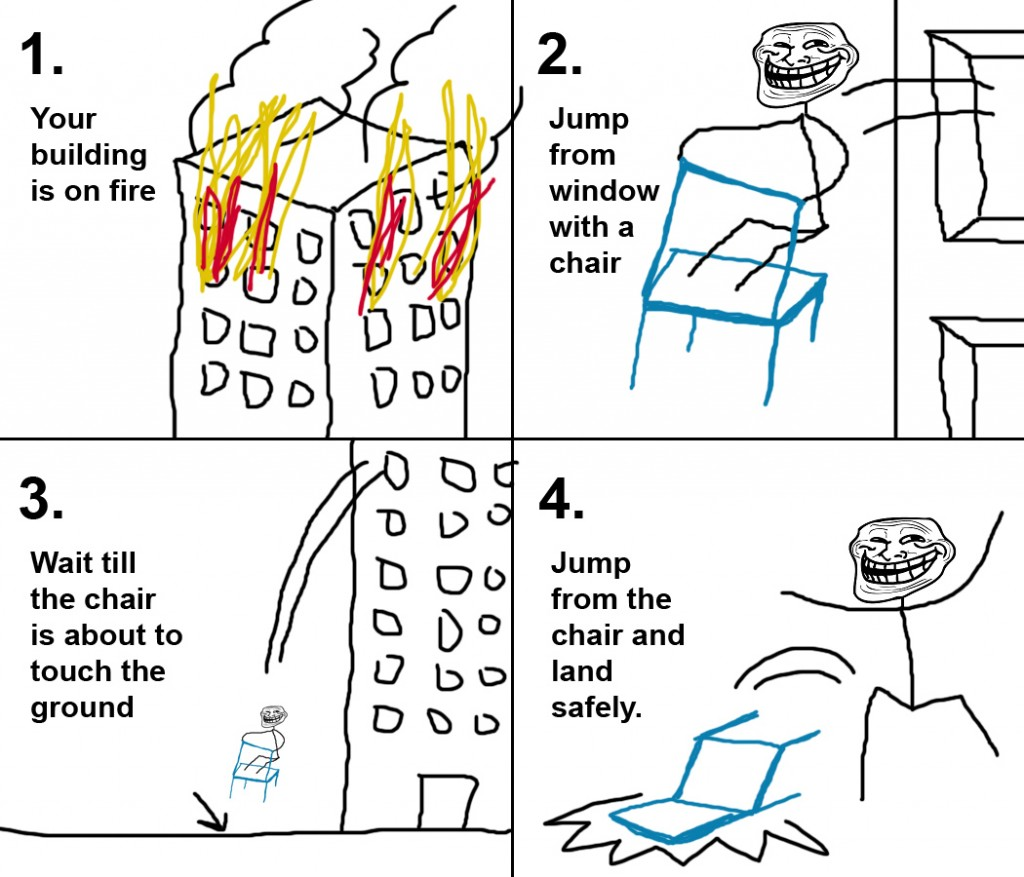 Troll Science – Your Building is on Fire ?
