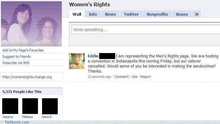 Facebook - Women's right page