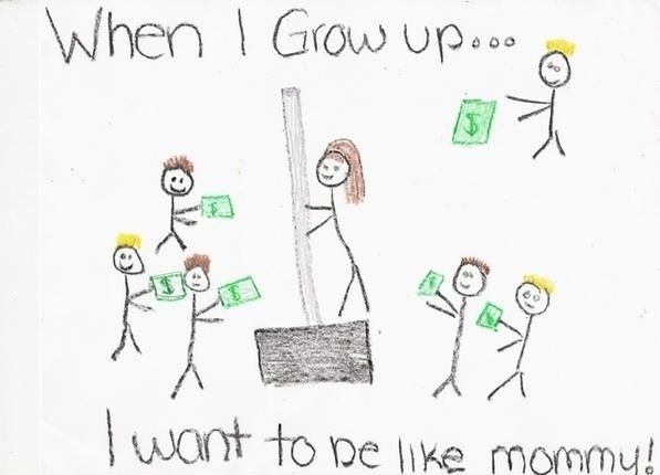 When I grow up, I want to be like mommy - Funny Picture