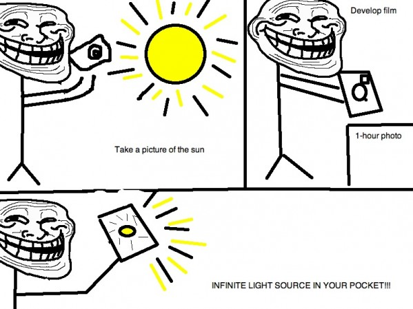 Infinite Light Source – Troll Science-Troll Physics