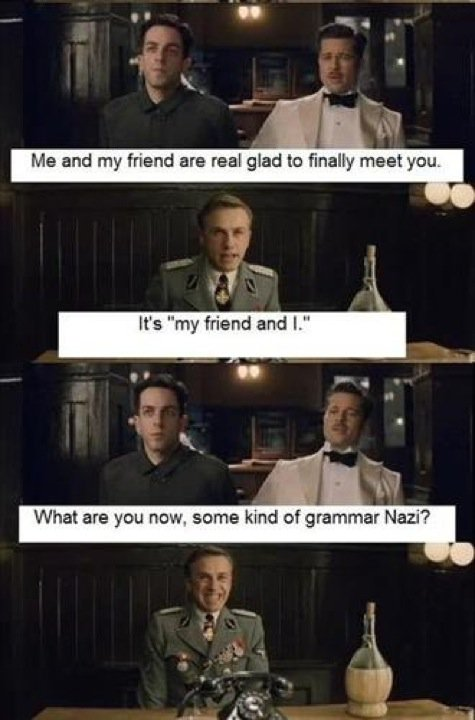 Funny Picture - Are you grammar nazi?  4 panel comics