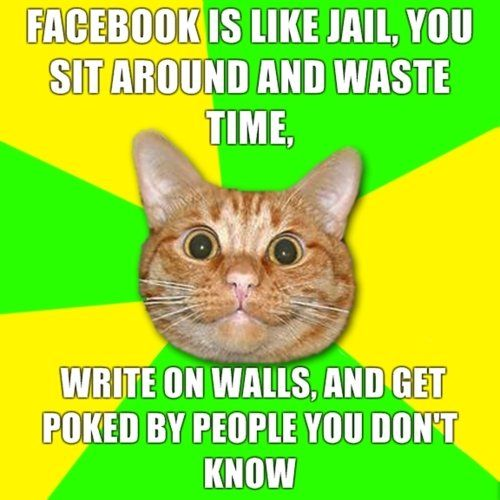 Funny Picture - Facebook is like Jail