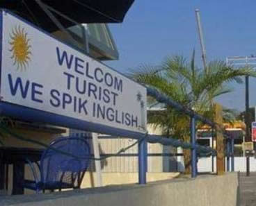 Funny picture - Welcome turist we spik inglish