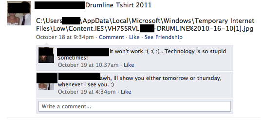 Facebook, technology is so stupid sometimes