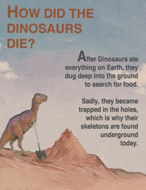 Why did the dinosaurs die? - Funny Picture