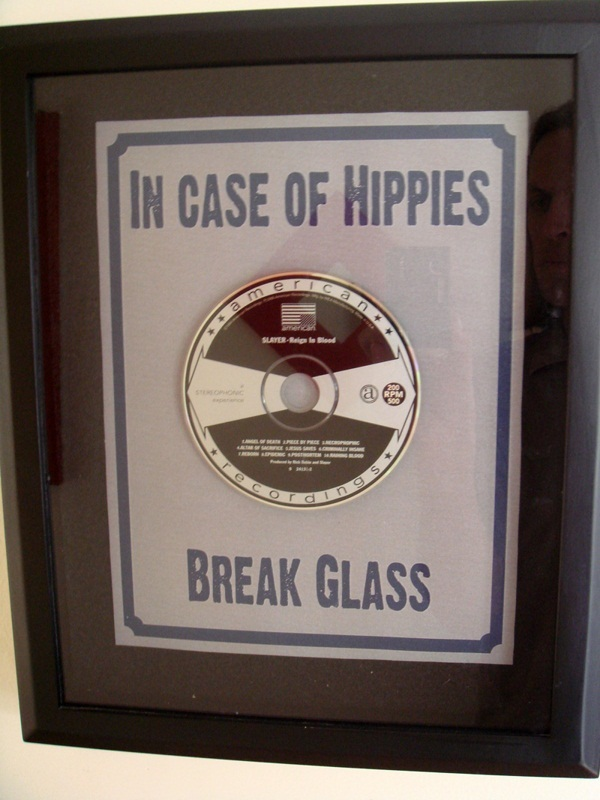 In case of Hippies - Break Glass - Funny Picture