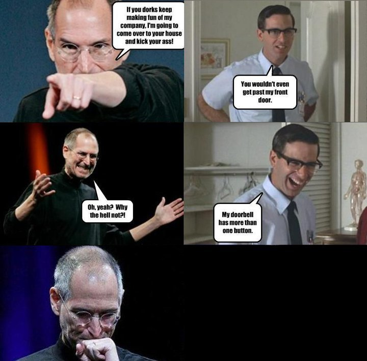 Steve Jobs - More than one button - Comics
