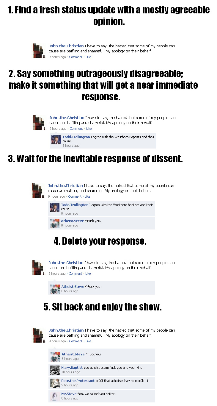 How to troll on Facebook - Funny Poicture