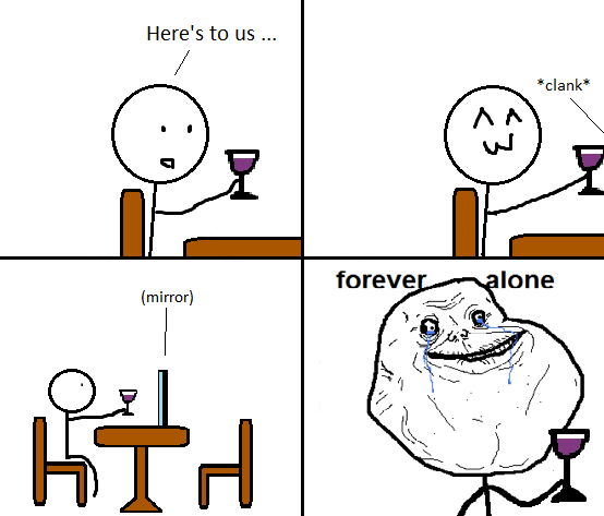 Here's to us - Forever Alone