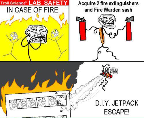 Troll Science Lab Safety - In case of Fire