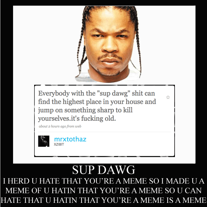 Xzibit Knows About The `Yo Dawg` Meme - Funny Picture