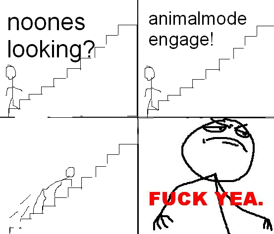 Animal mode engaged! Fuck yea