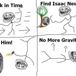 Back in Time, find Newton – Troll Science – Troll Physics