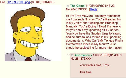 Hi I'm Troy McClure - Funny Picture