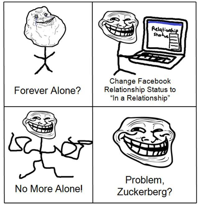 Problem Zuckerberg Forever Alone - TrollFace