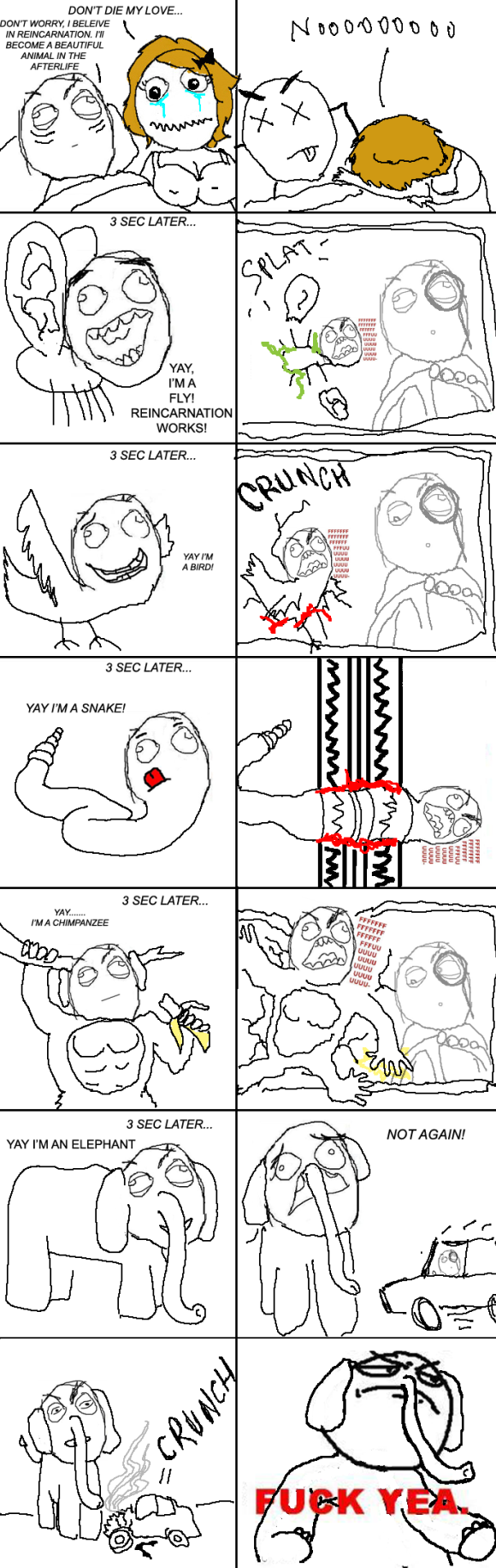 Reincarnation-FFFFUUUU - Rage comics - Fuck yea
