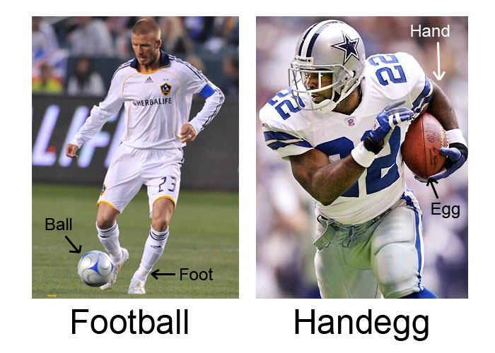 Football vs Handegg