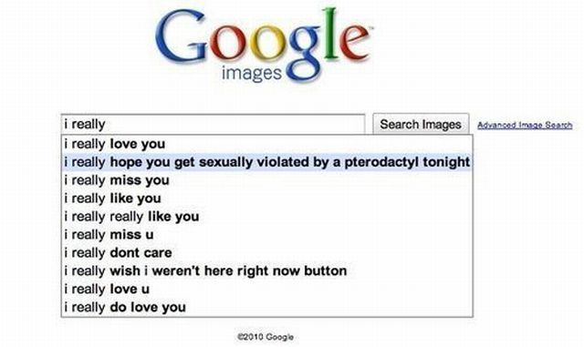 I really hope - Google Suggest - Funny Picture