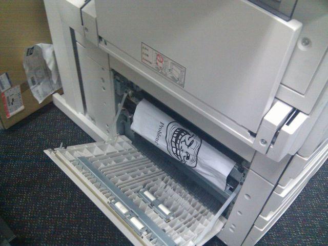 Problem printer Trollface